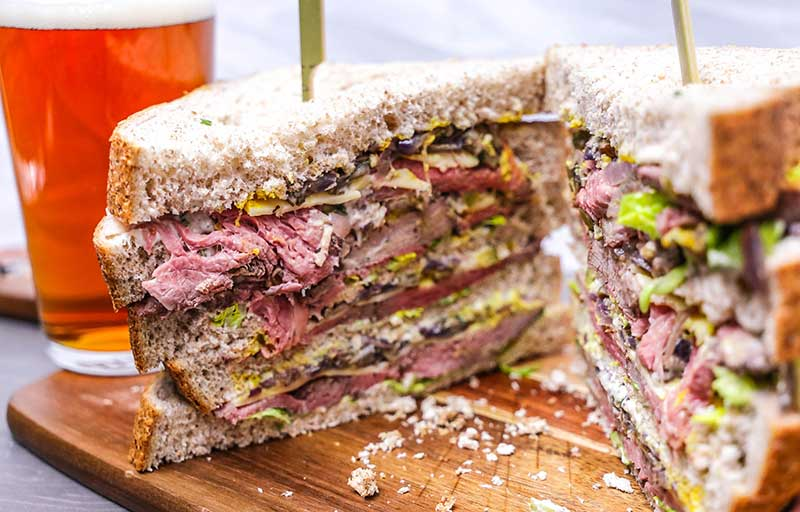 Ultimate roast beef butty