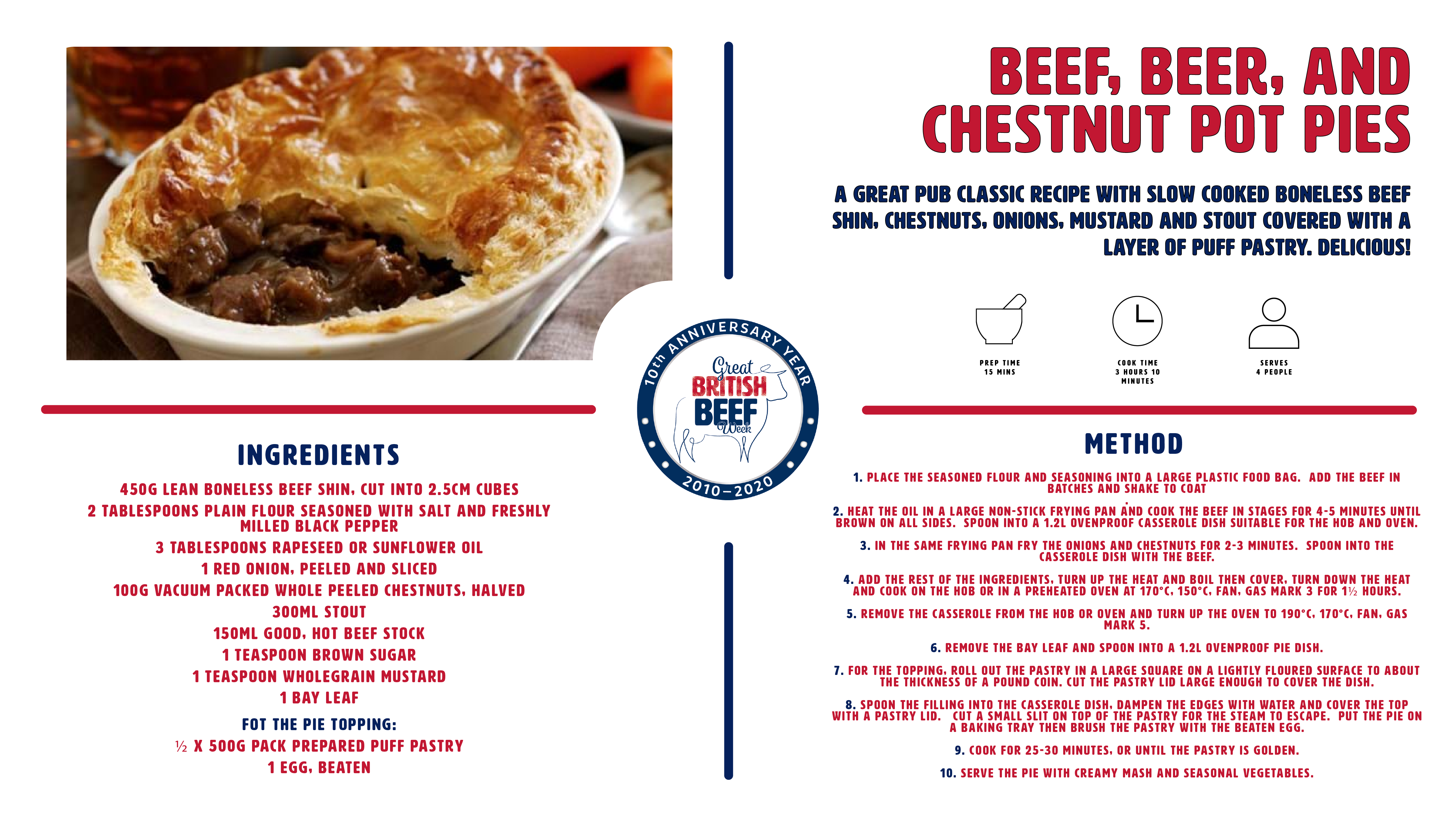 GBBW2020  Beef Beer and Chestnut Pot Pies recipe card