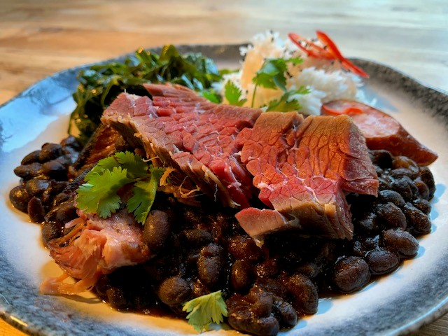 Feijao con carne seca by Andy Burns, Executive Chef of True North Brew, Sheffield