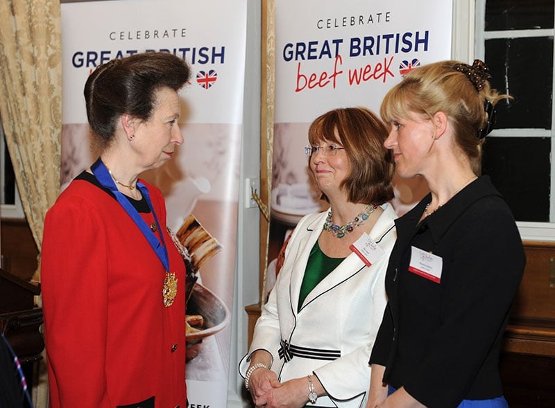 Ladies in beef lunch with Princess Ann